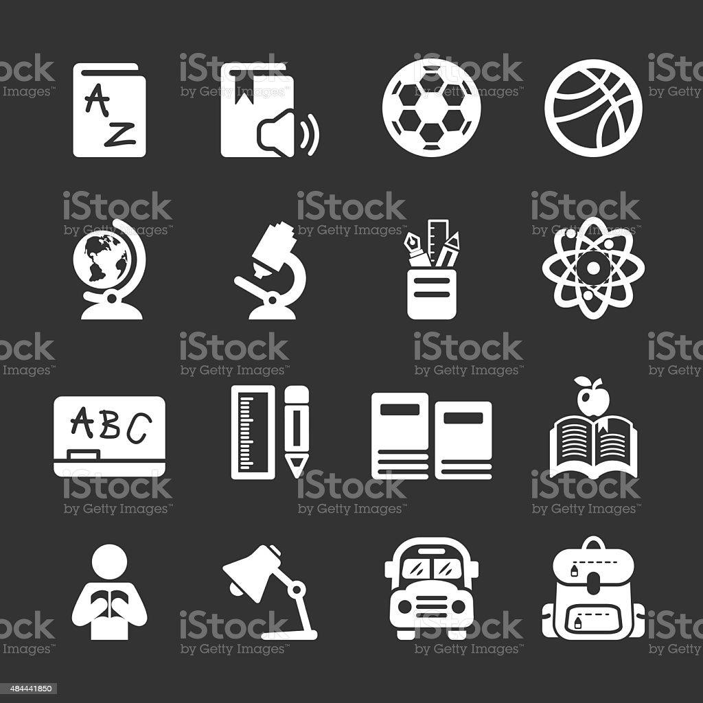 education icon set, vector eps10 vector art illustration