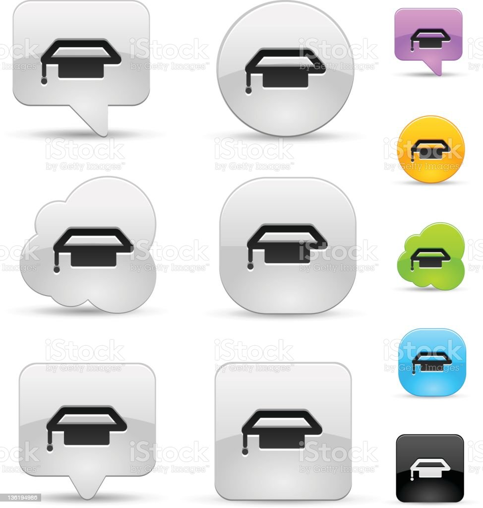 Education icon set royalty-free stock vector art