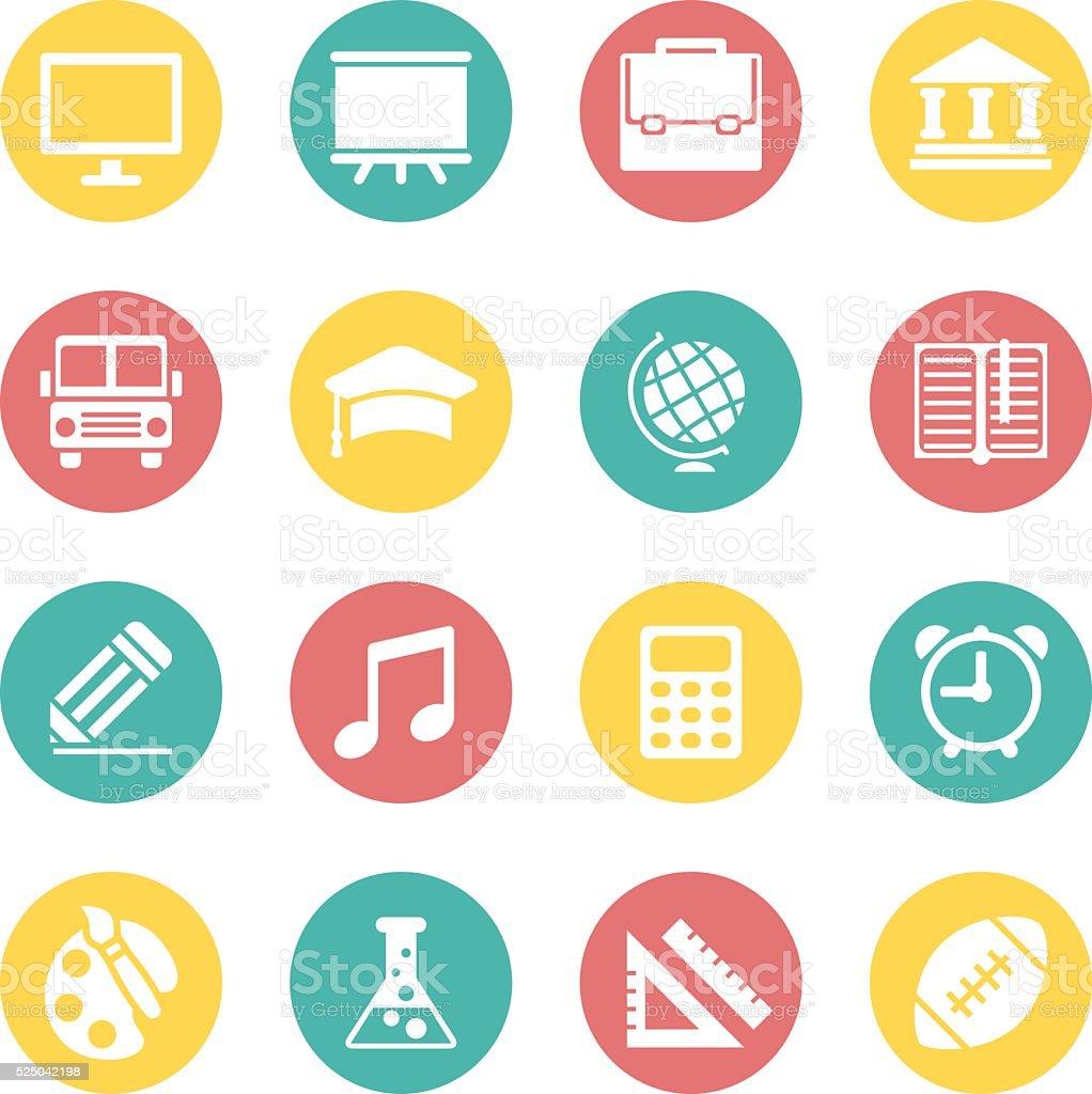 Education Icon Set. vector art illustration