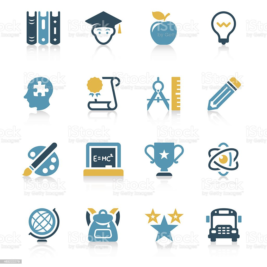 Education Icon Set | Vivid Series vector art illustration