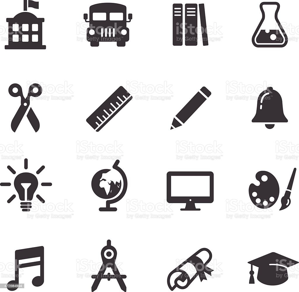 Education Icons - Acme Series vector art illustration