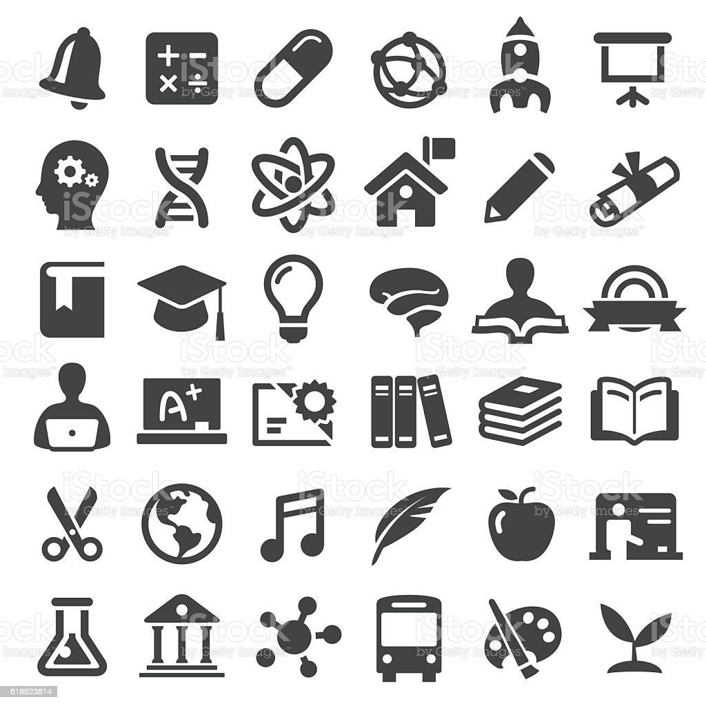 Education Icons - Big Series vector art illustration