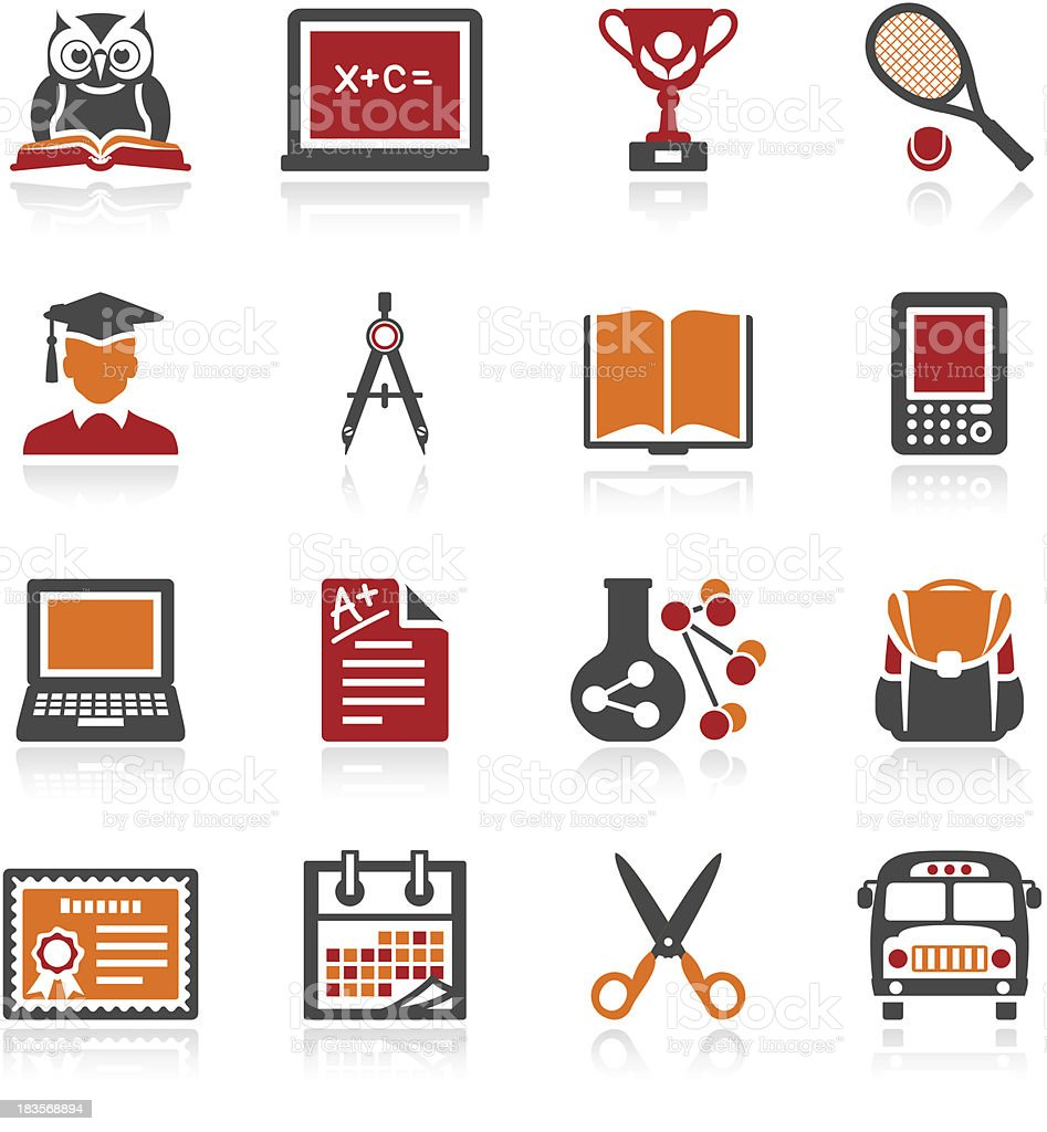 Education icons. Color series. royalty-free stock vector art