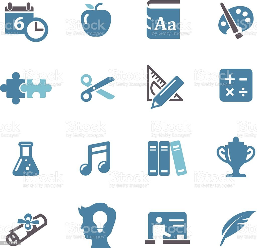 Education Icons - Conc Series vector art illustration