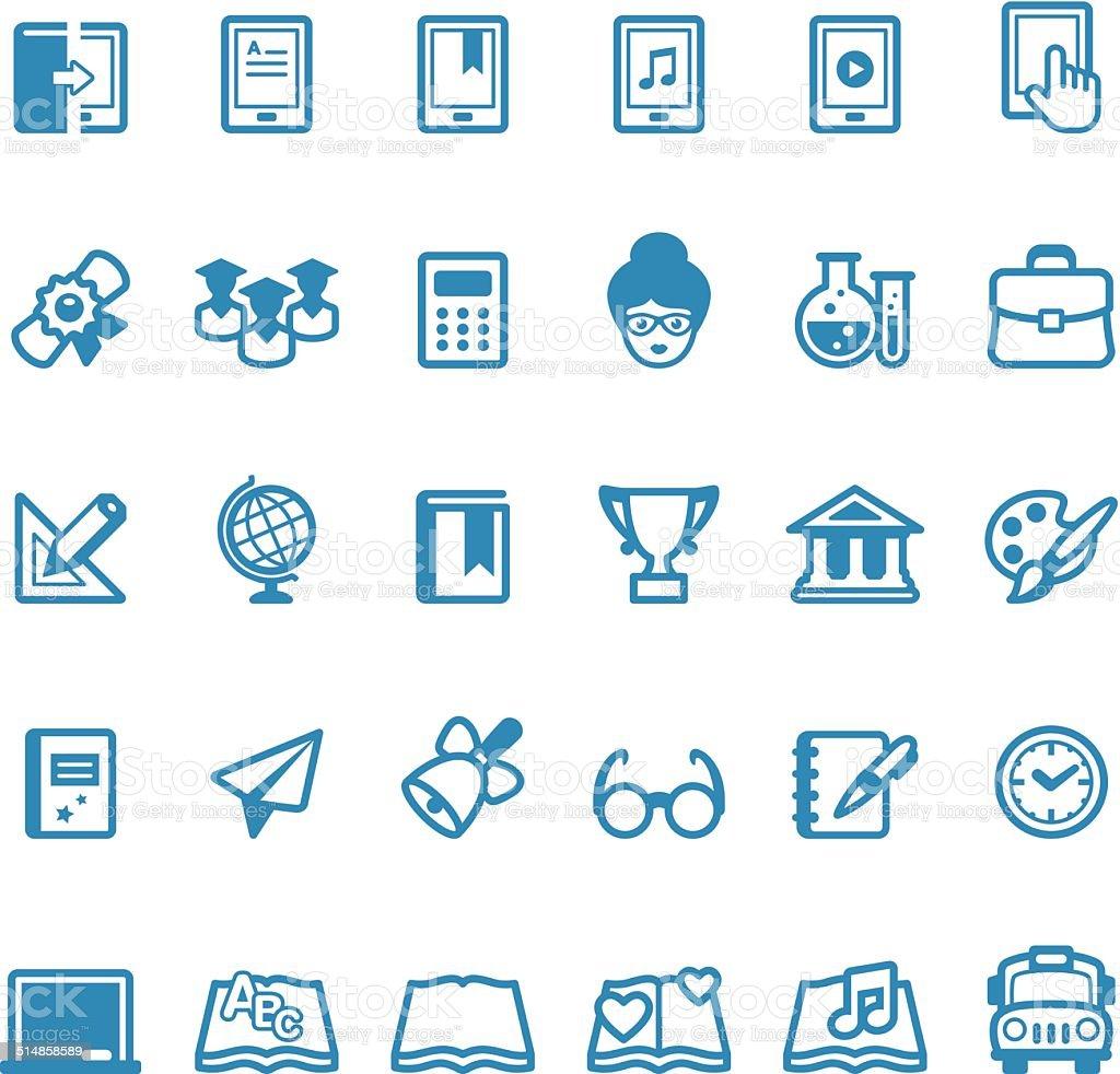 Education icons / Linico series vector art illustration