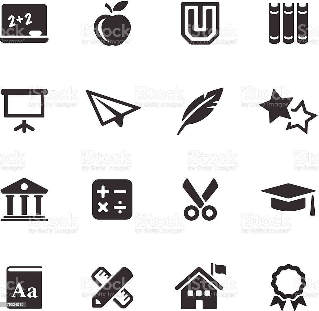 Education  Icons | Mono Series royalty-free stock vector art