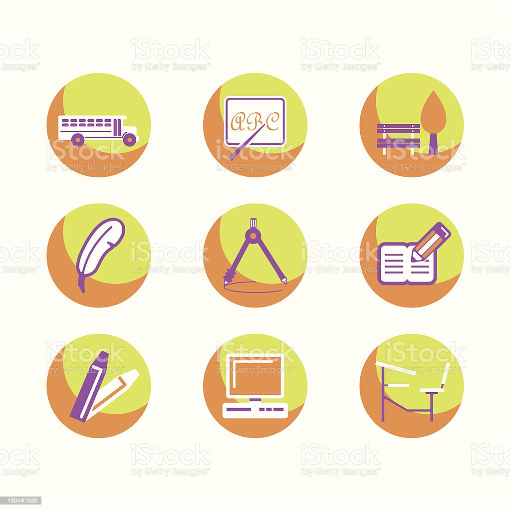 Education Icons Series royalty-free stock vector art