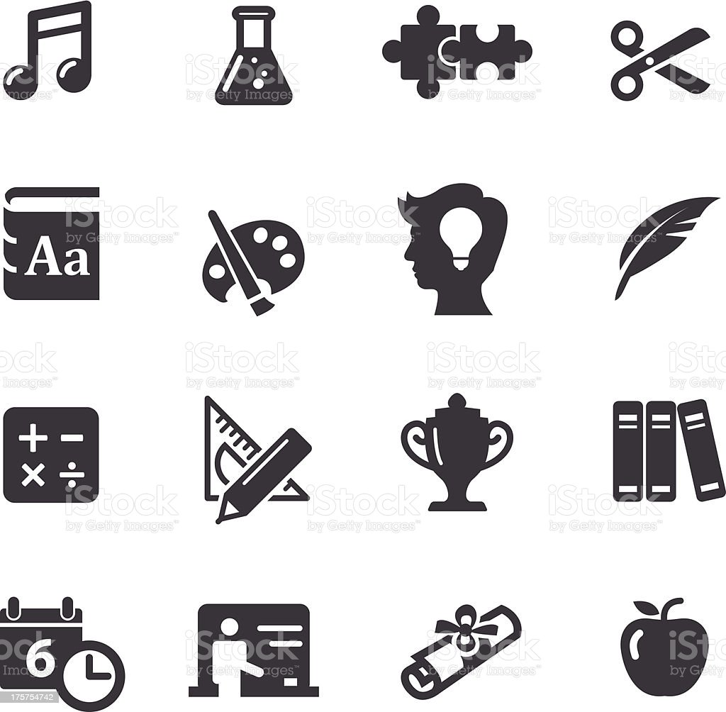 Education Icons Set 2-Acme Series vector art illustration