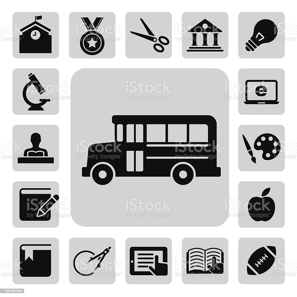 Education icons set. royalty-free stock vector art