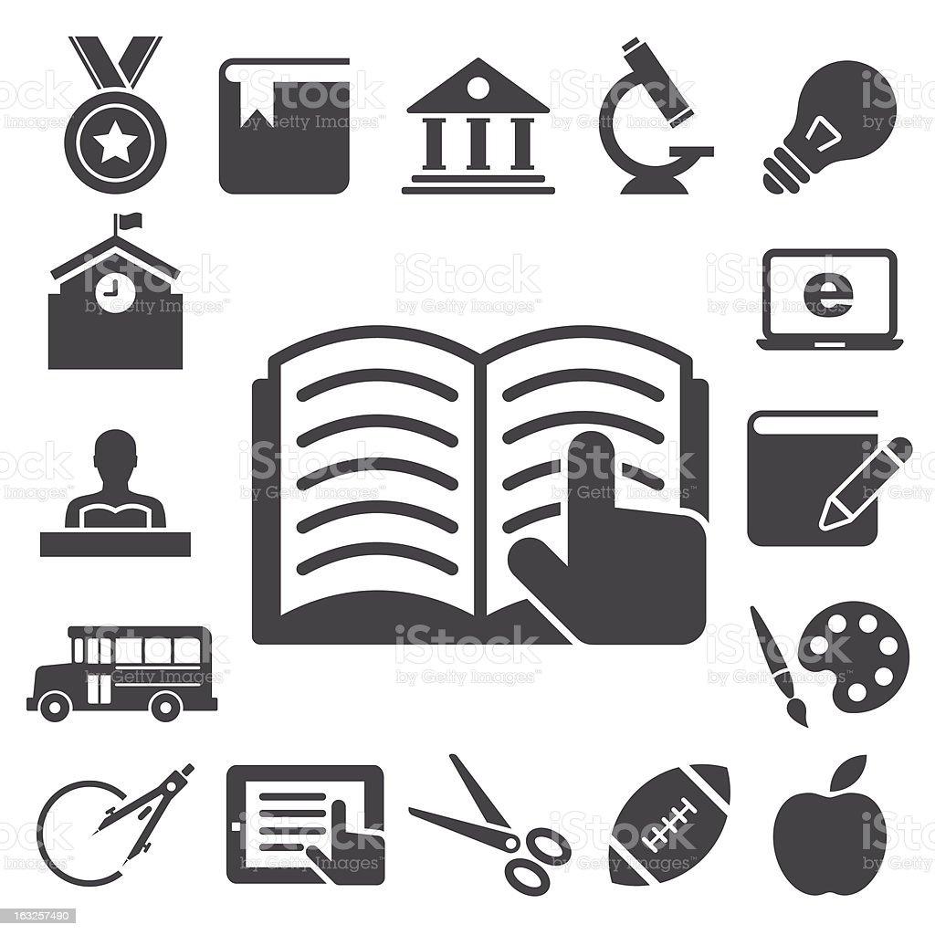 Education icons set. royalty-free stock vector art