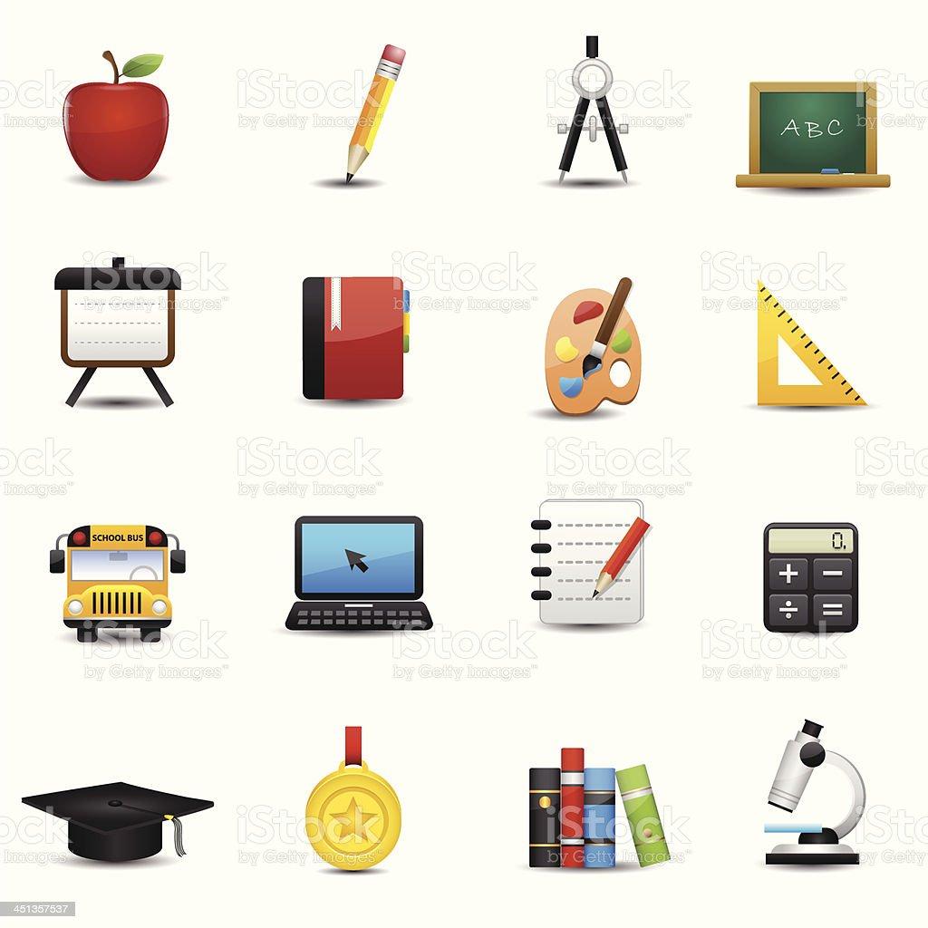 Education Icons Set royalty-free stock vector art