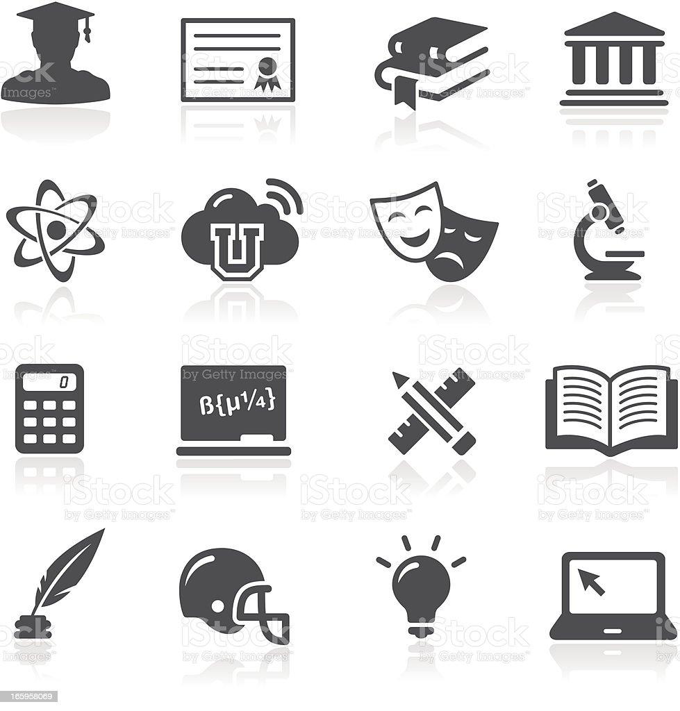 Education Icons - University vector art illustration