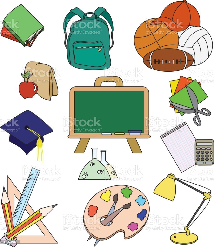 Education icons royalty-free stock photo