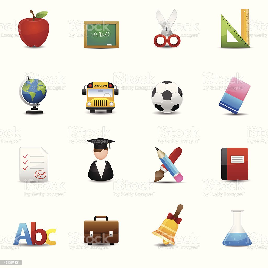 Education Icons vector royalty-free stock vector art