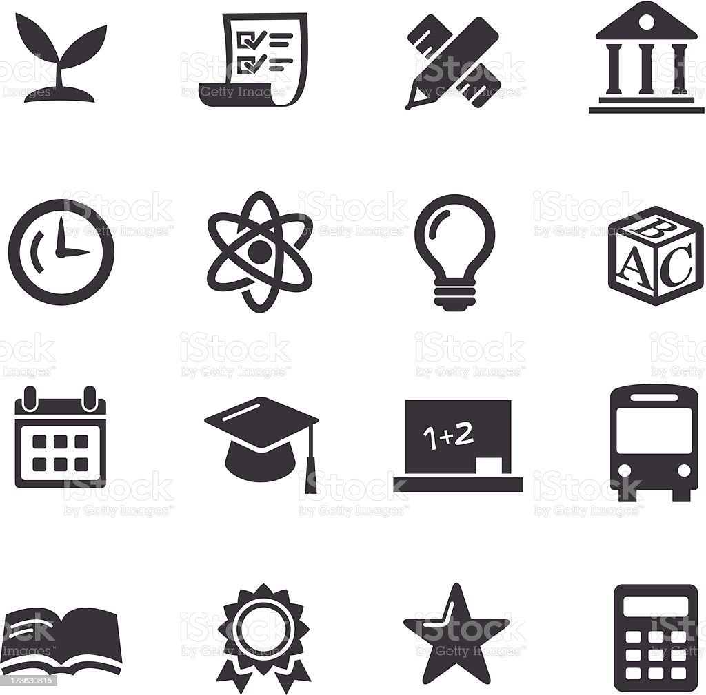 Education Icons-Acme Series royalty-free stock vector art
