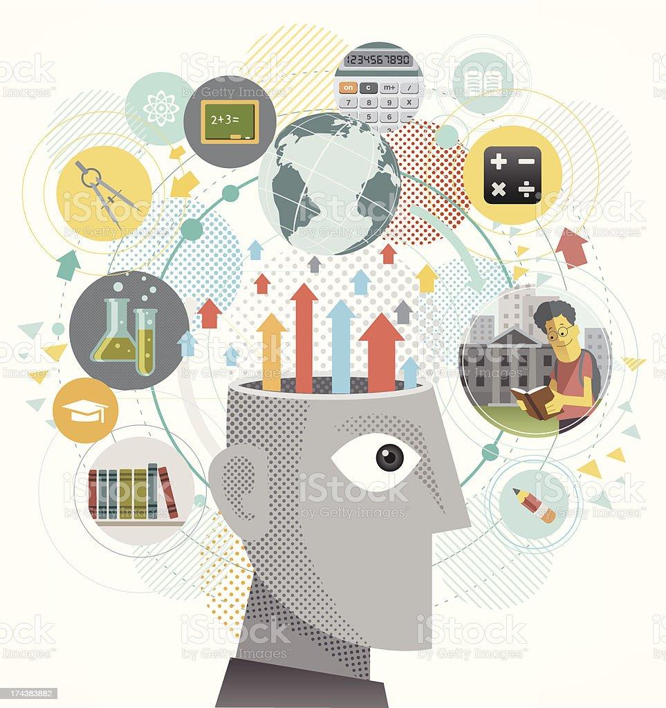 Education idea royalty-free stock vector art