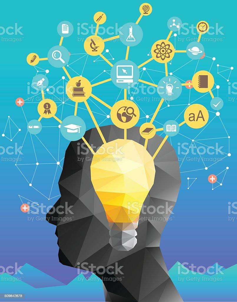 Education ideas and planning vector art illustration