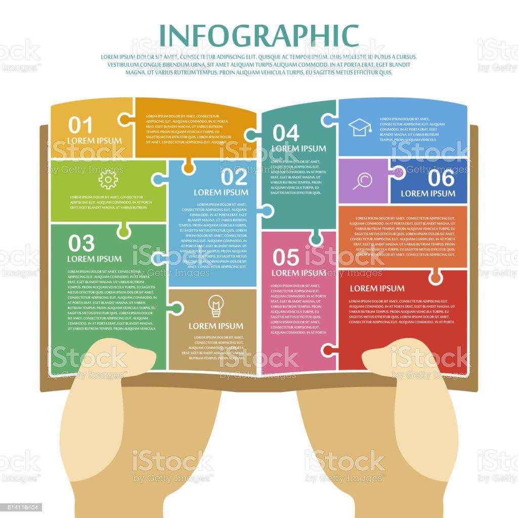 education infographic template design vector art illustration