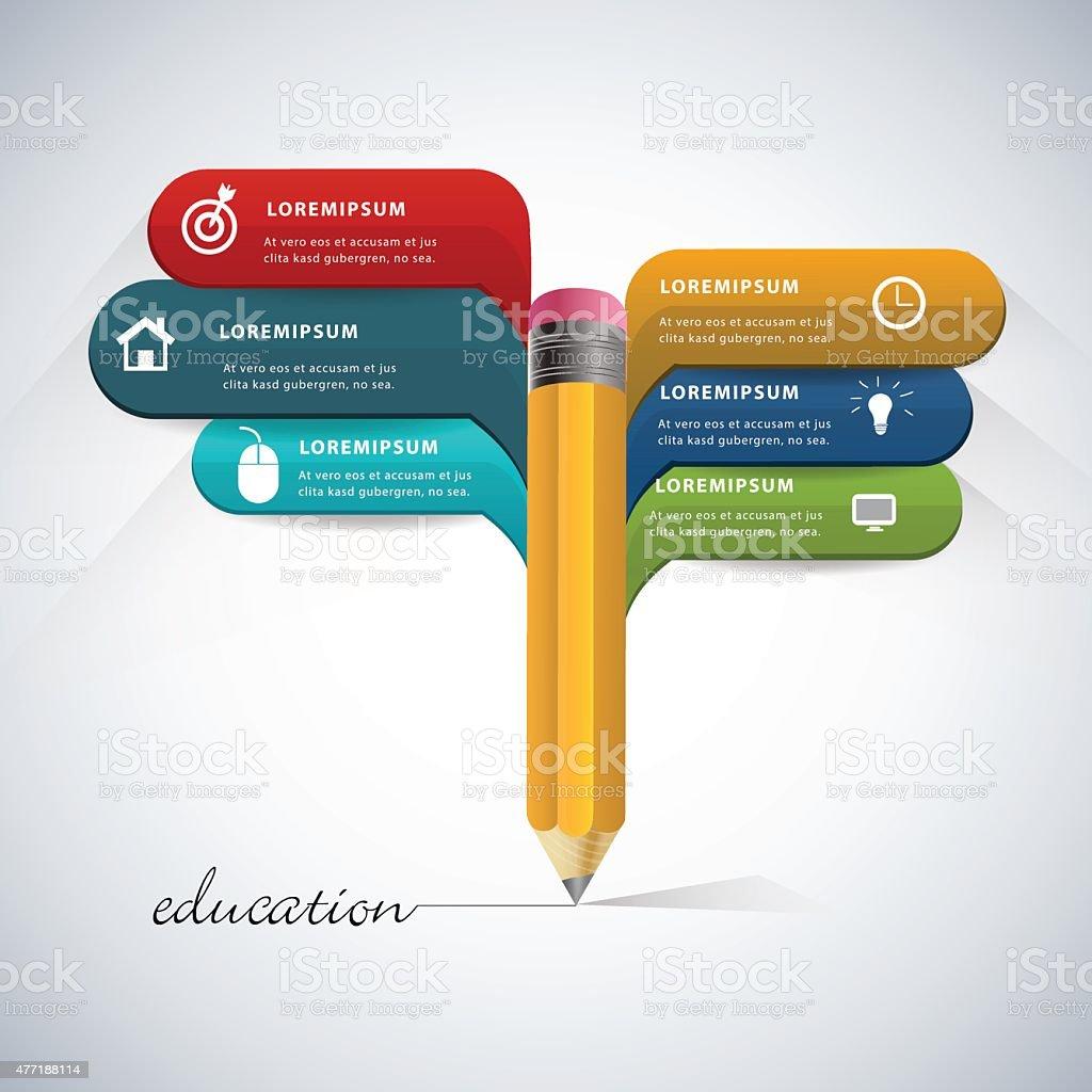 Education infographic. vector art illustration