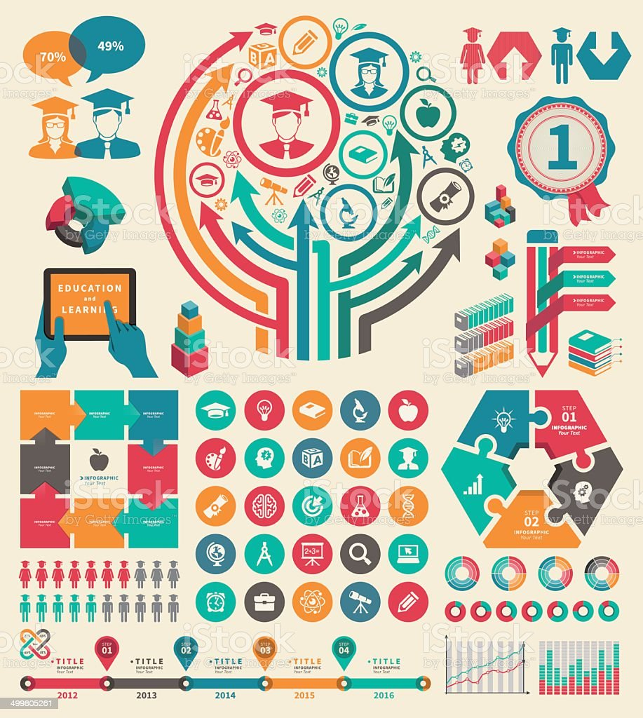 Education Infographic vector art illustration