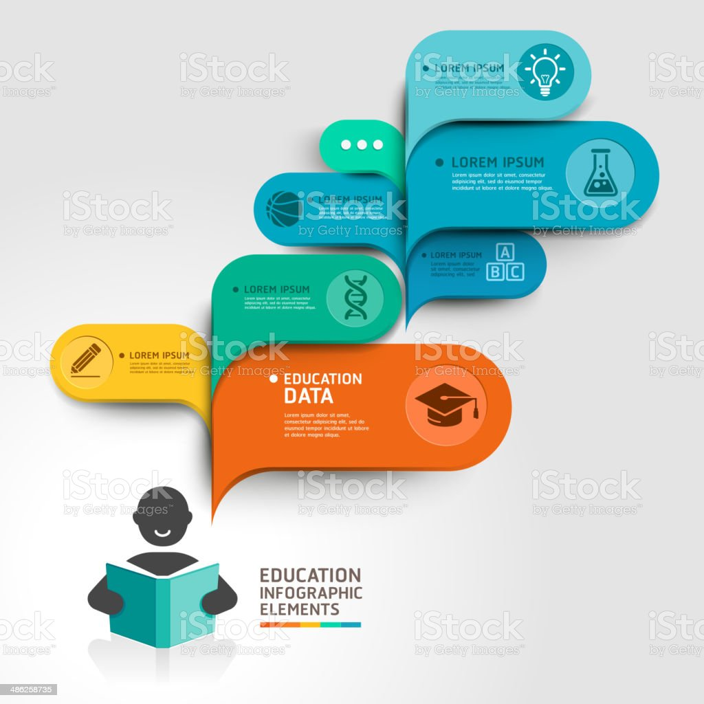 Education Infographics step option. vector art illustration