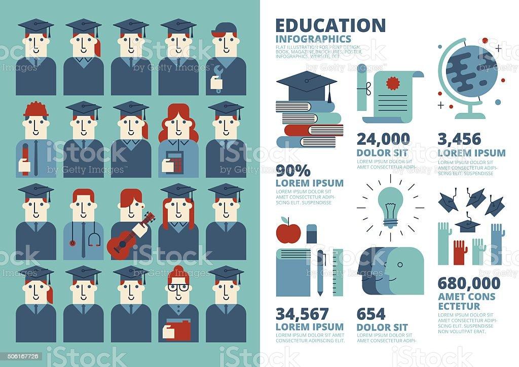 Education Infographics vector art illustration