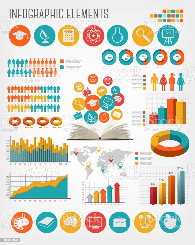 Education infographics. Vector. vector art illustration