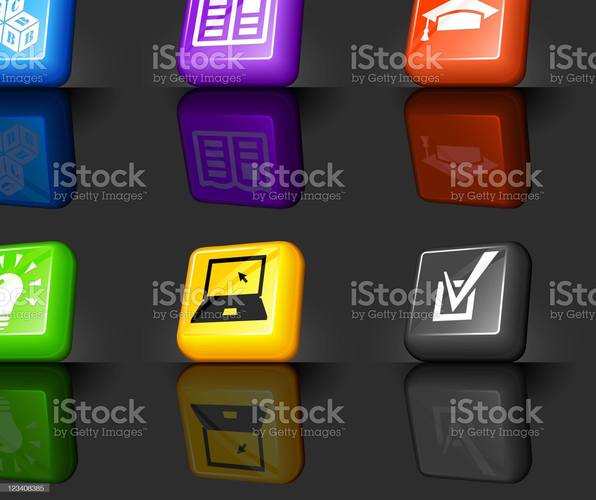 education internet royalty free vector icon set royalty-free stock vector art
