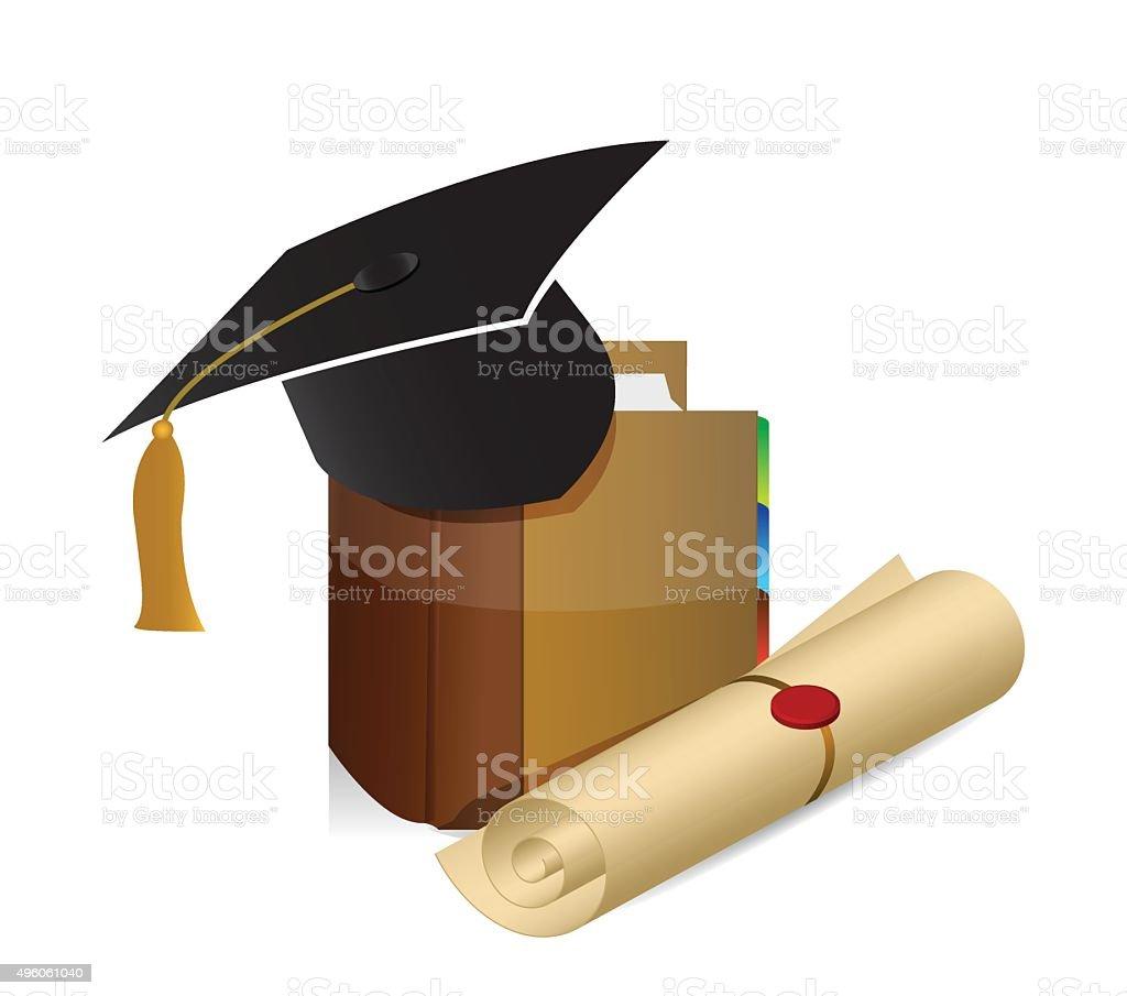 Education knowledge graduation illustration vector art illustration