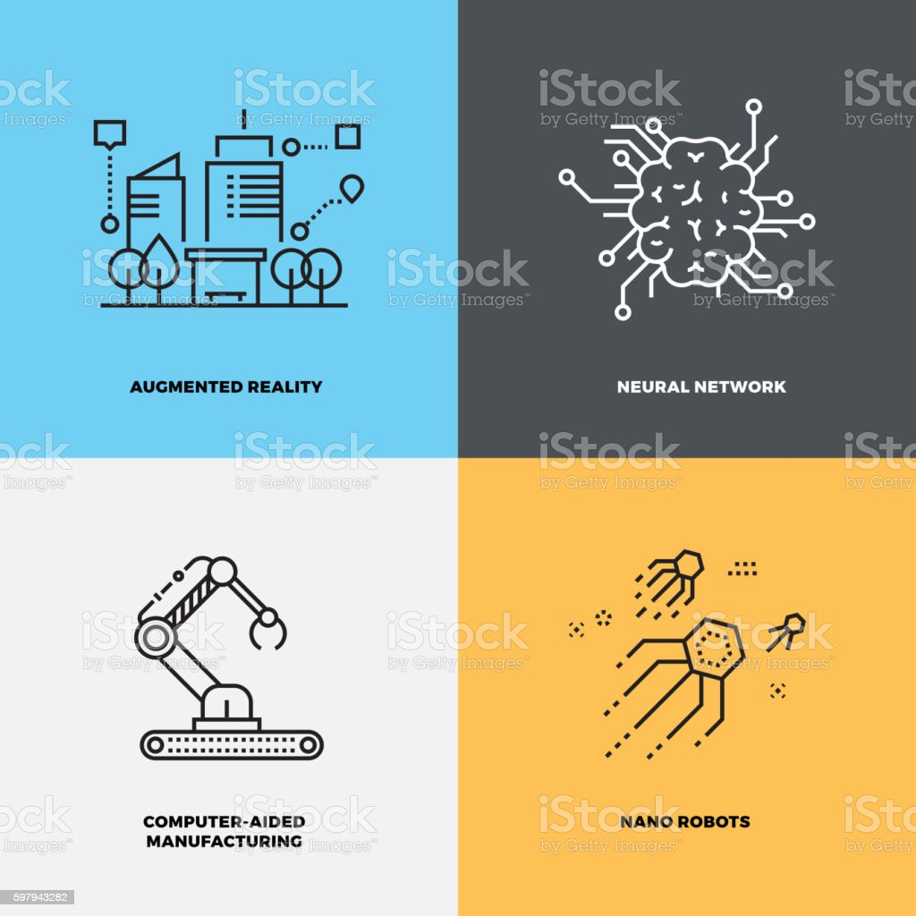 Education knowledge intelligence neuroscience vector concepts vector art illustration