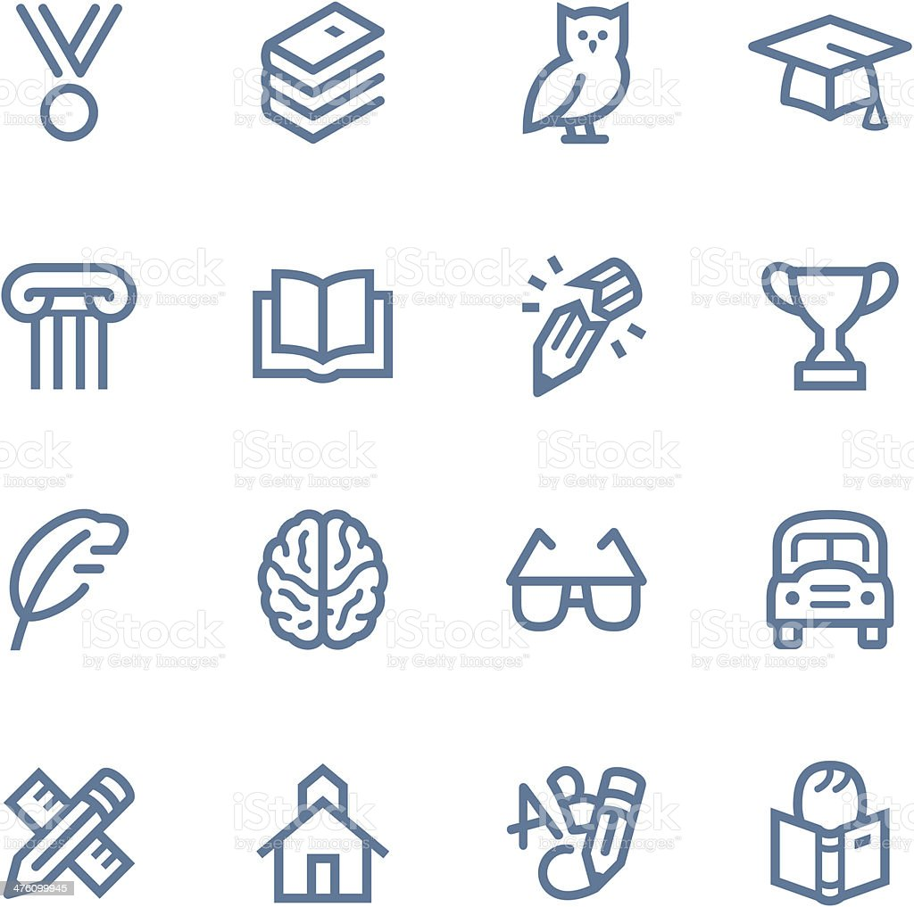 Education Line icons vector art illustration