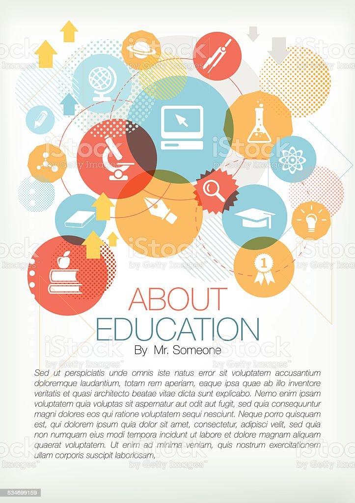 Education page vector art illustration