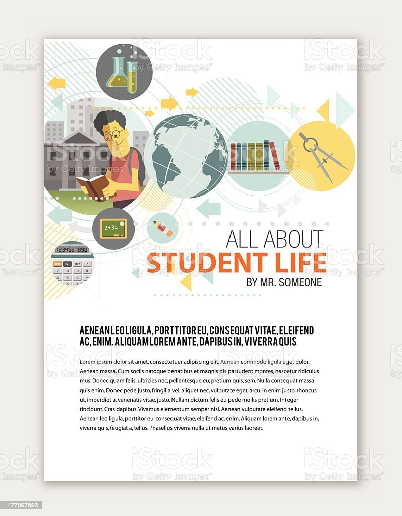 Education print template vector art illustration