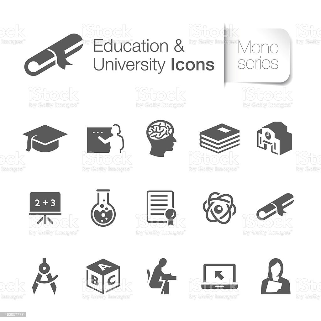 Education Related Icons vector art illustration