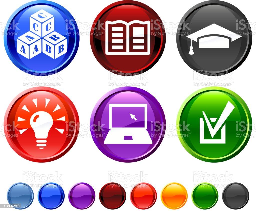 education royalty free vector icon set royalty-free stock vector art