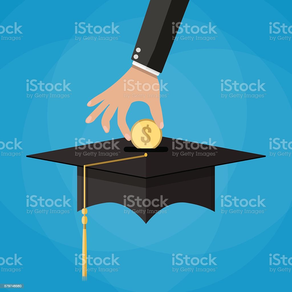 education savings and investmet concept vector art illustration