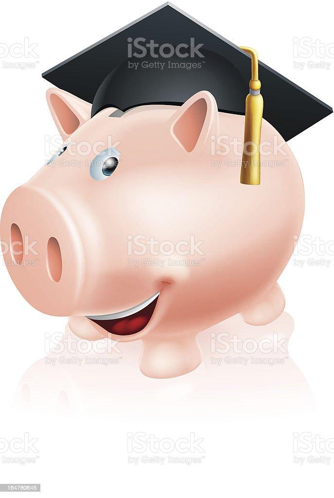 Education savings piggy bank royalty-free stock vector art