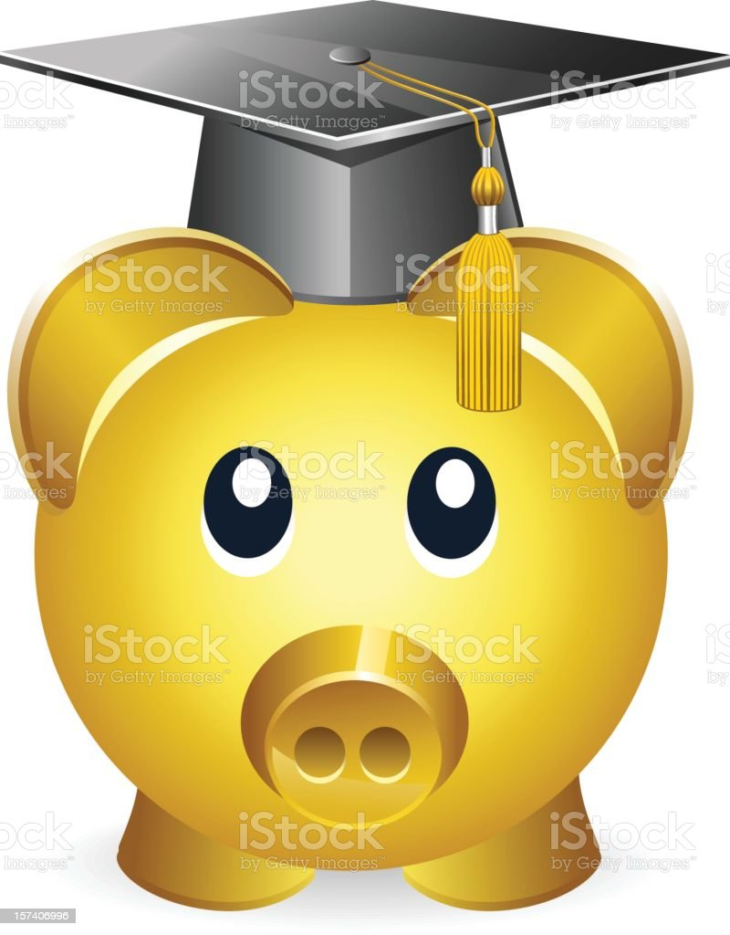 Education savings royalty-free stock vector art