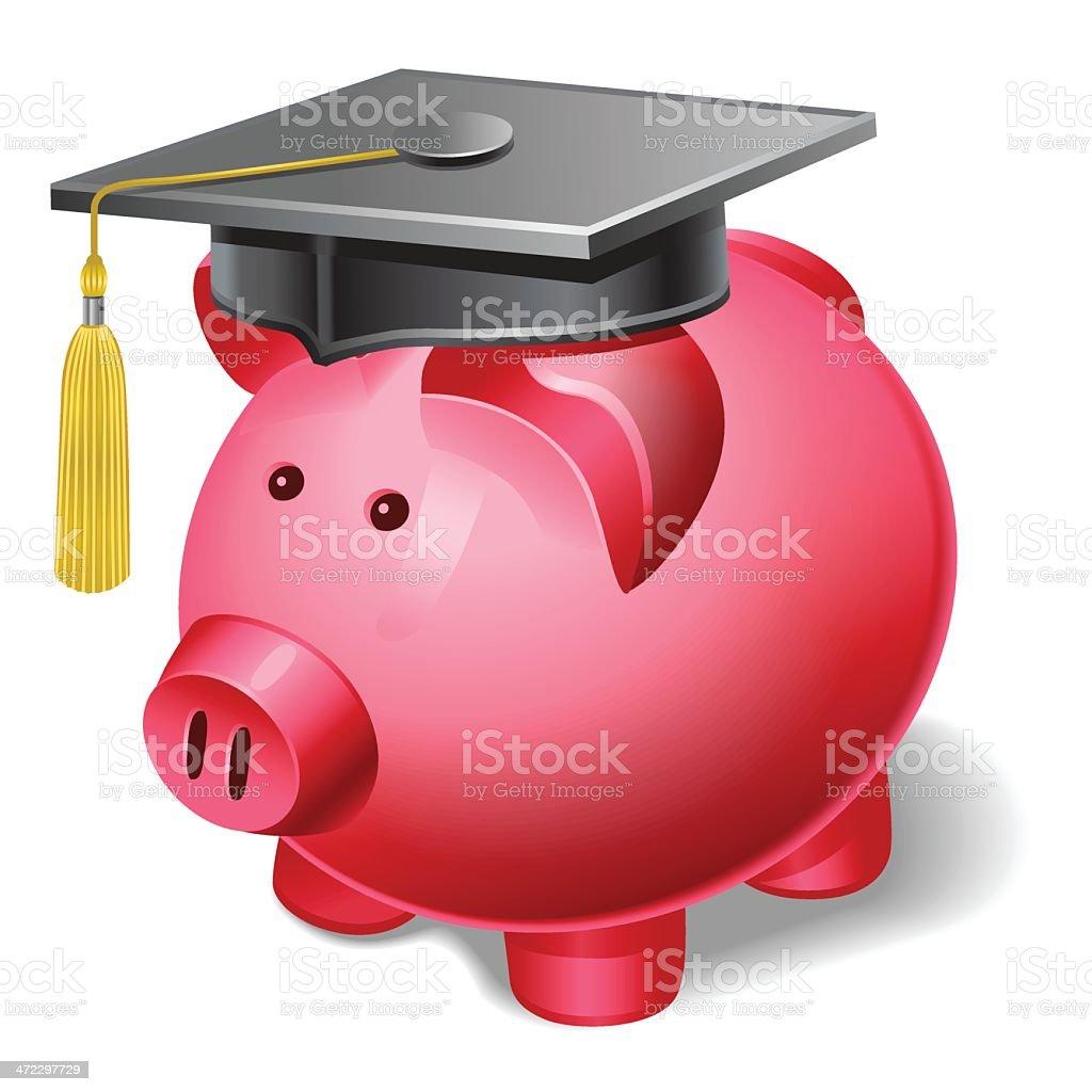Education savings royalty-free stock vector art
