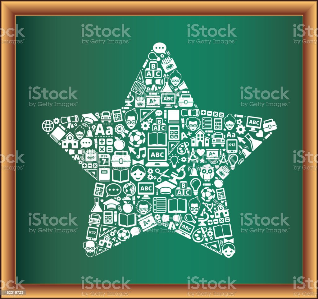 education & school and education Star Blackboard Collection royalty-free stock vector art