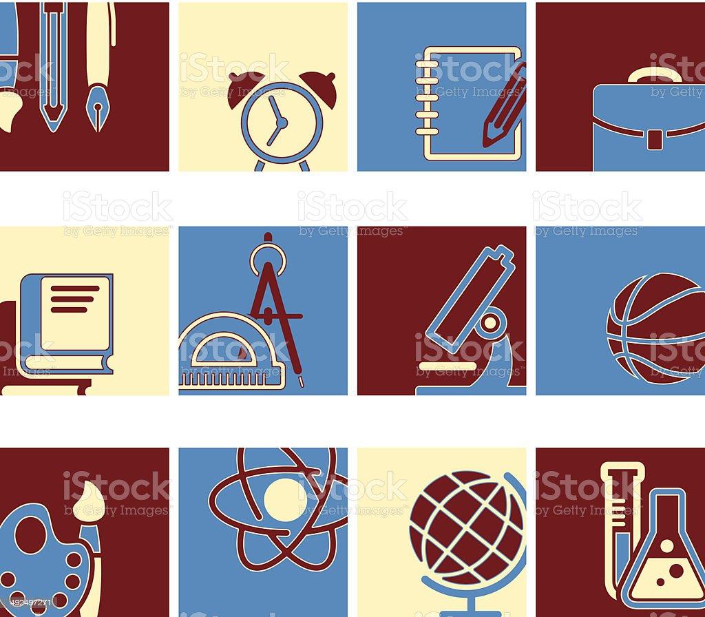 Educação escolar símbolo vetor coleção vetor e ilustração royalty-free royalty-free