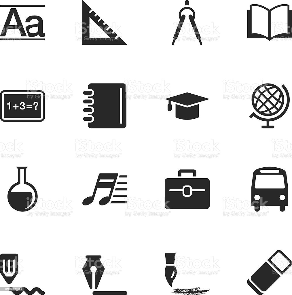 Education Silhouette Icons royalty-free stock vector art