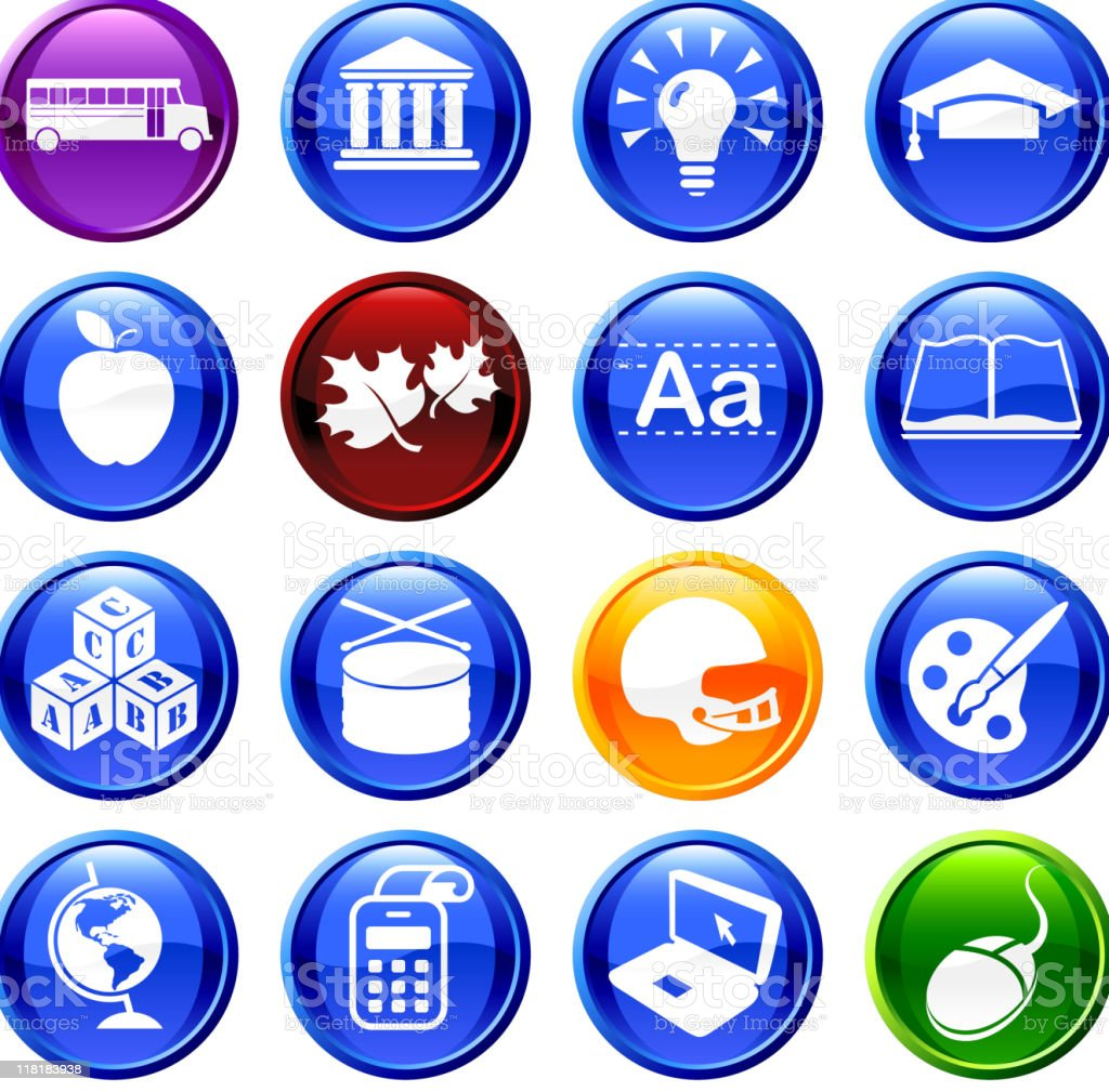education sixteen royalty free vector icon set royalty-free stock vector art