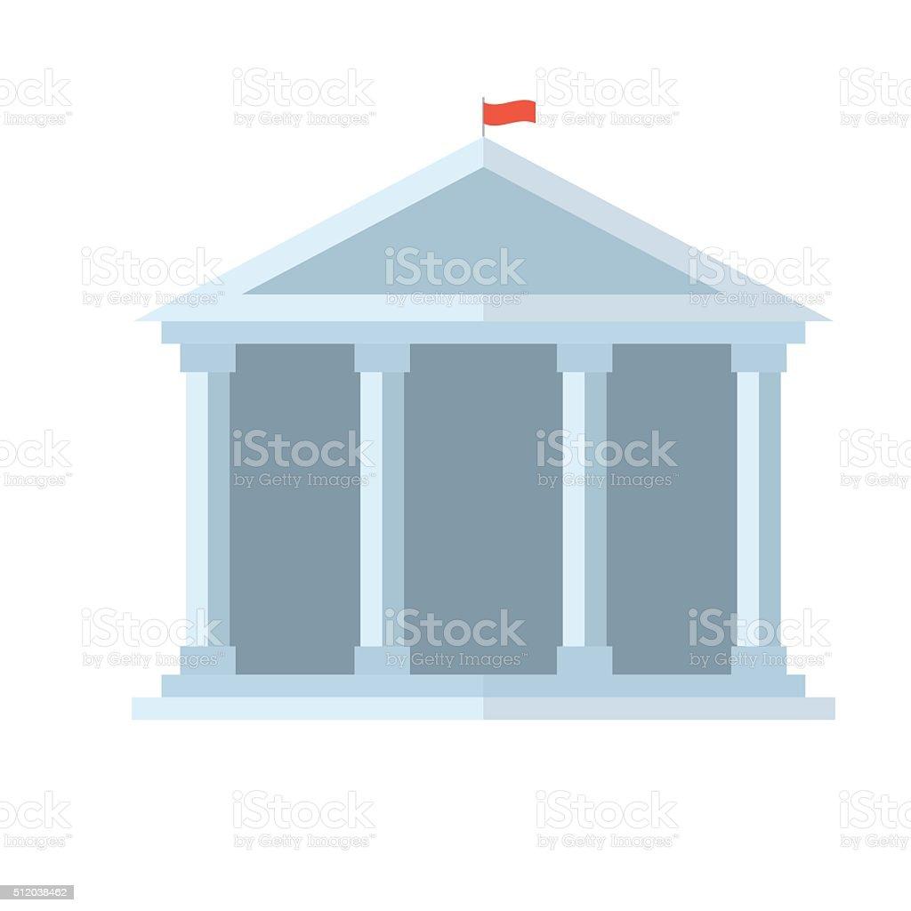 Education Temple Vector Icon vector art illustration