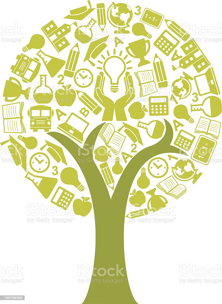 Education Tree Concept royalty-free stock vector art
