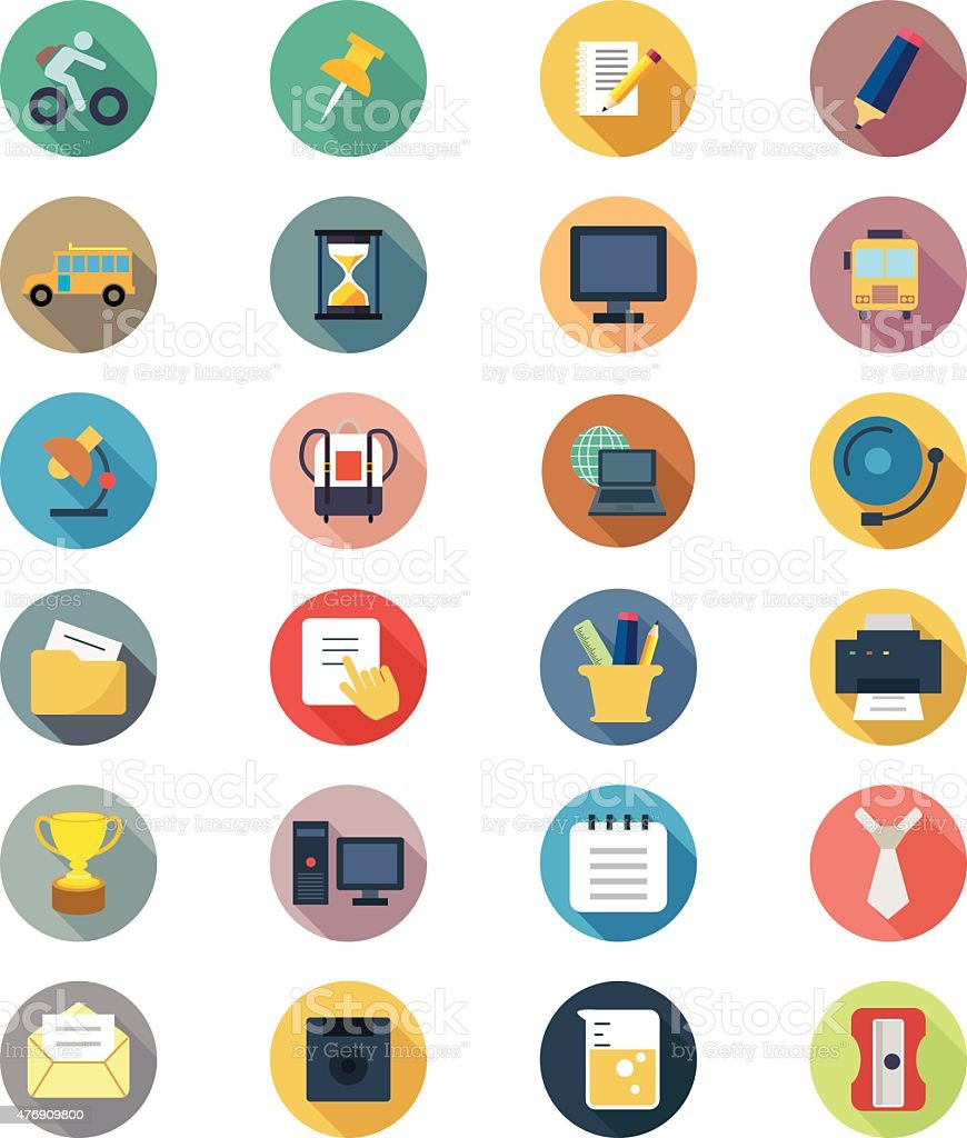 Education Vector Flat Icons 2 vector art illustration
