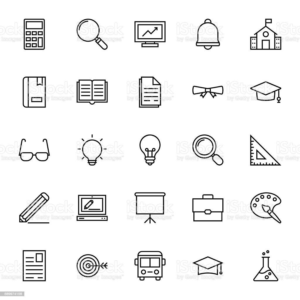 Education Vector Icons 1 vector art illustration