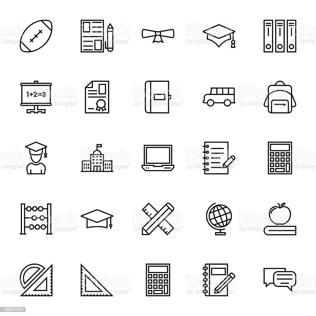 Education Vector Icons 2 vector art illustration
