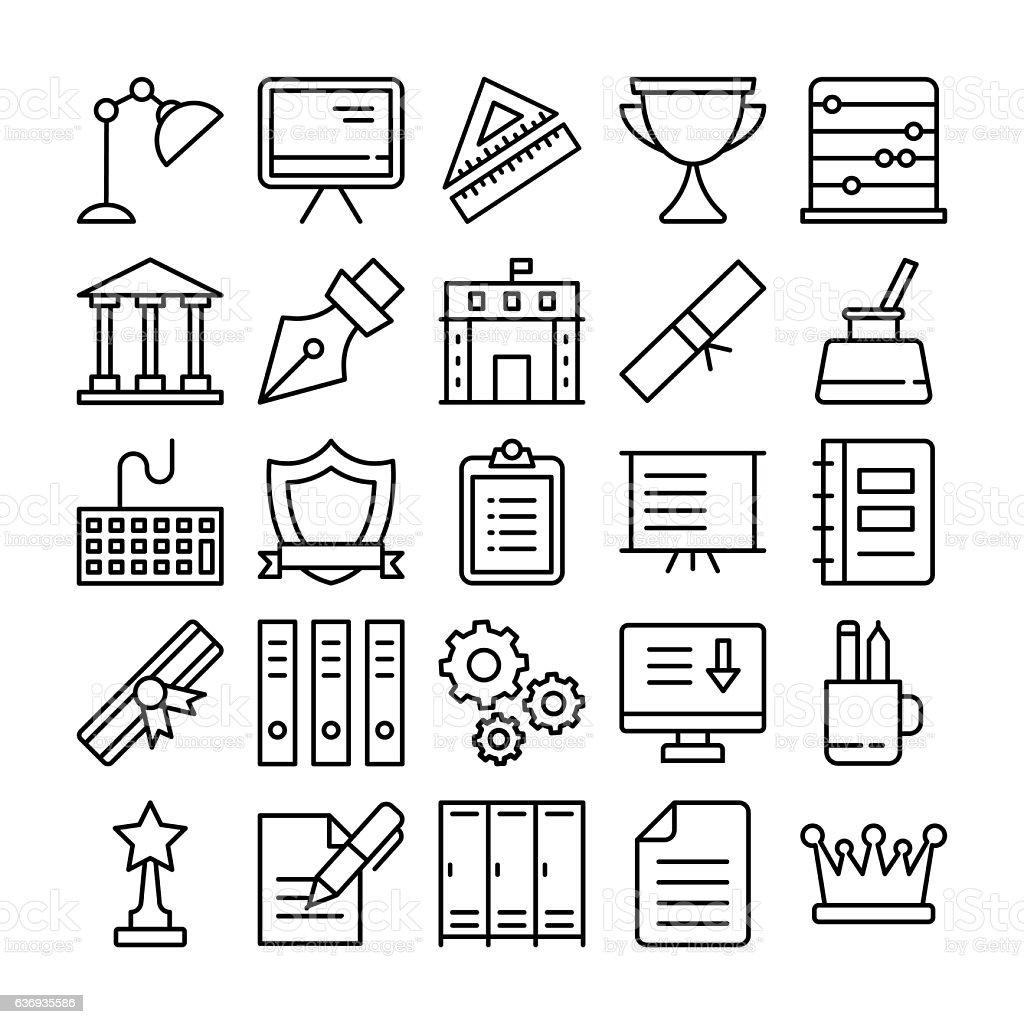 Education Vector Icons 3 vector art illustration