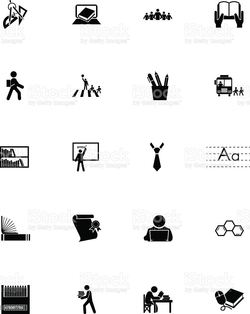 Education Vector Icons 4 vector art illustration